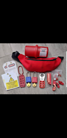 Electrical safety lock off kit