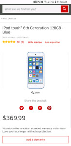 6th generation iPod touch 128gb