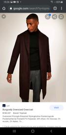 75 % off , Man's burgundy overcoat