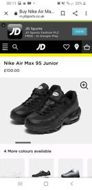 size 3 nike air max junior