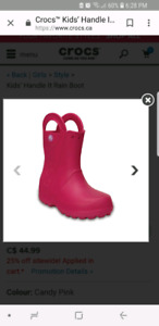 Looking for croc rubber boots in toddler size 6