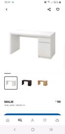 Malm desk, computer desk, office desk