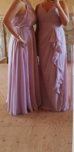 Two bridesmaids dresses for sale