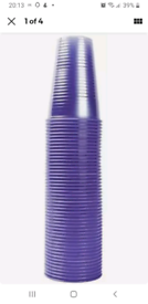 MyCafe Plastic Cups - 7 oz / 180ml - Translucent Blue - Pack of 1000 -