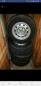 Four Bridgestone  all  rims 245 70r 17