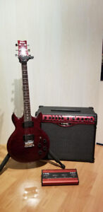 Ibanez electric guitar and Line 6 Spyder amplifier