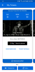 Clay Walker April 5 Edmonton