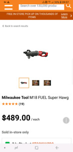 Brand new Milwaukee M18 Fuel Super Hawg Tool only
