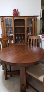 Dining table  with a cabinet/   compare just the dining set