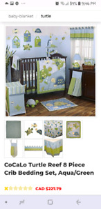 CoCaLo baby Turtle Reef crib set, boy or girl