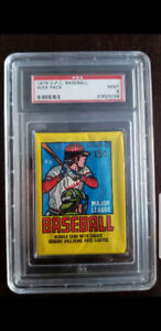1979 OPC BASEBALL UNOPENED WAX PACK PSA 9 POSSIBLE OZZIE SMITH