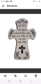 """""""HOPE"""" wooden plaque"""