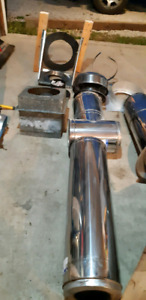 Stainless Steel Stove pipe - roof/wall kit and pipes