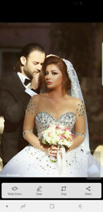Wedding dress From Lebanon size 6-8