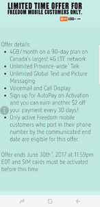 Public mobile 12gb lte global text province wide promo 4 freedom