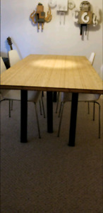 Modern Bamboo Table & Chairs