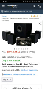 Energy 5.1 take classic home theater speakers set of 6 (black)
