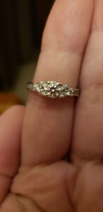 Canadian Diamond Engagement Ring and Band