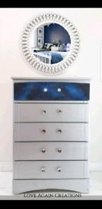 Wood Tallboy Dresser