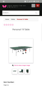 Butterfly ping pong table