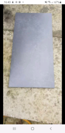 Anthracite floor tiles