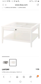 IKEA White Liatorp Coffee Table