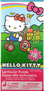 Casse-Tête, Hello Kitty, Lenticular, 100 pieces, NEUF