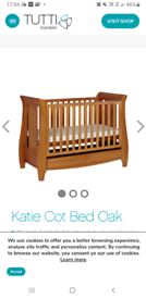 TUTTI BAMBINI KATIE SLEIGH COT/TODDLER BED