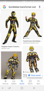 Looking for a bumblebee transformer costume size 7 to 10 boys