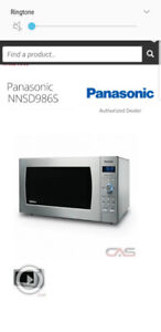 PANASONIC MICROWAVE retail over 400$+iam selling for only 120$!!