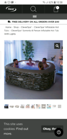 CLEVERSPA® SORRENTO 6 PERSON INFLATABLE HOT TUB
