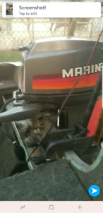 1986 ish lund 16ft fishing boat with 40hp tiller