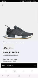 Bnib Adidas NMD R1 Shoes sz 10 Grey Deadstock