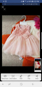 Baby girl dress lot.. 2 size 6.months and 1 size 3 to 6.