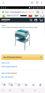 Brand new open box chicco bathtub/changing table