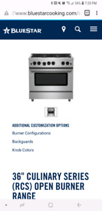 "Brand New! Bluestar 36"" Gas Range"
