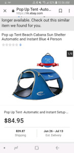 New 4 person Pop Up Tent