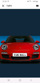 Personal snooker/pool number plate
