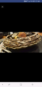 Fall wicker basket