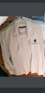 4 male holy cross uniform shirts