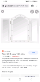 TRIPLE MIRROR LED FOR DRESSING TABLE