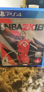 NBA2K18 PS4 PLAYSTATION 4 MINT CONDITION