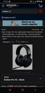 Razer kraken v2 headset-CHEAP