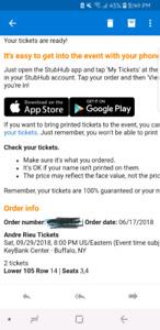 Andre Rieu tickets