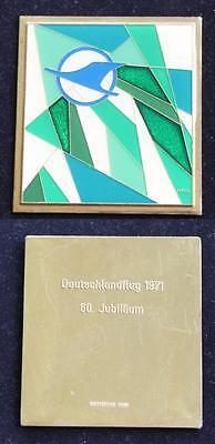 Original Teilnahme Abzeichen / Medaille / Plakette / Deutschlandflug 1971