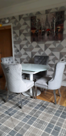 Atlanta dining table and springfeild dining chairs