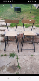 retro science stools