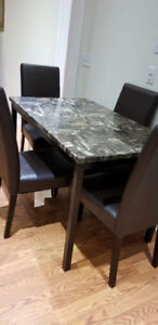 Marble top Dinning table set