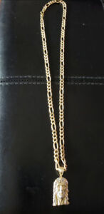 10Kt 24inch Gold Chain with Jesus piece