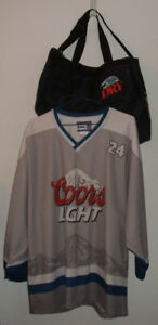 Sac Sport Chandail Hockey Molson Dry Coors Bière Beer Bag Jersey